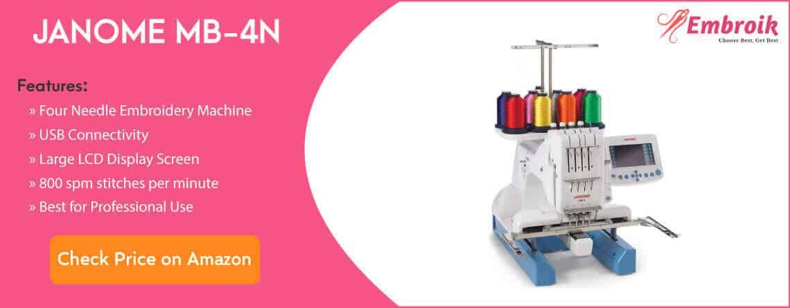 janome mb-4n embroidery machine