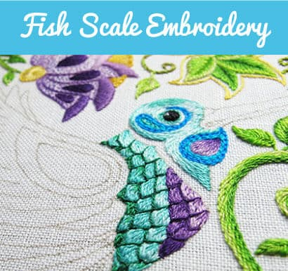 Fish Scale Embroidery