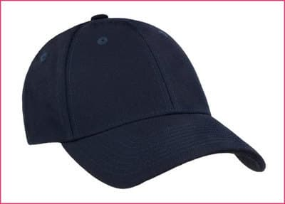 Varsity collegiate hats for embroidery