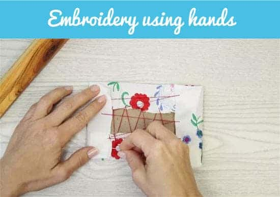 embroidery using hands
