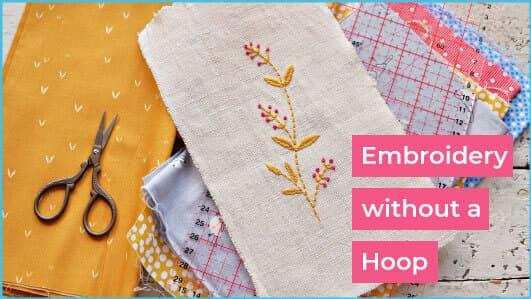 embroidery without a hoop