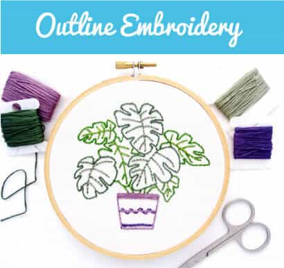 outline embroidery