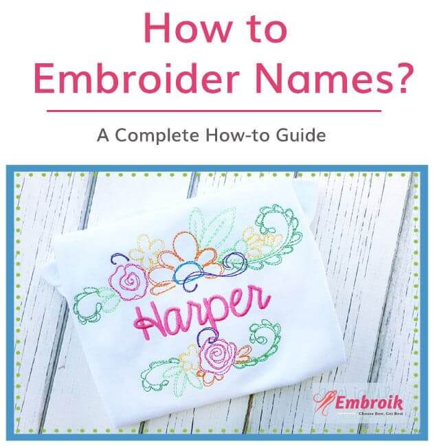 how to embroider names