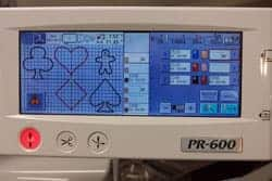 loading applique design on embroidery machine